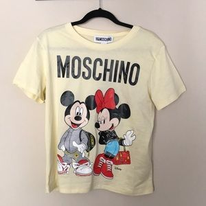 Moschino Tops - H&M MOSCHINO MICKEY AND MINNIE T-SHIRT